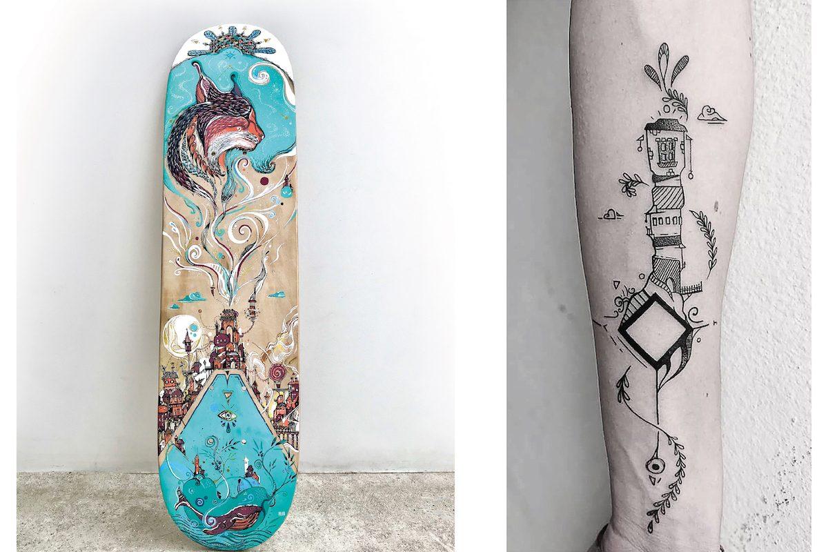 plaisirdetresoi-plaisir etre soi-pilou-graphiste-freelance-angers-illustrateur-eegp-365 jours-challenge-defi-dessin-art-creation-tatoo-skate-deco-illustration